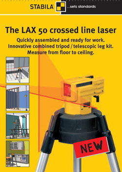 THE LAX 50 CROSSED LINE LASER