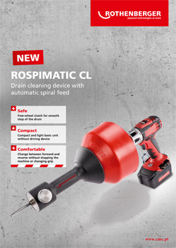 NEW DRAIN CLEANING DEVICE ROSPIMATIC CL
