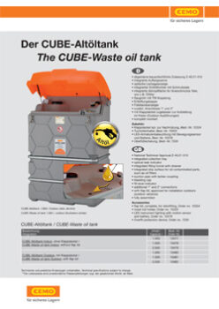 THE CUBE-WASTE OIL TANK