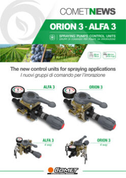 SPRAYING PUMPS CONTROL UNITS - ORION3 - ALFA3