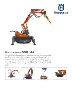 DXR 140 REMOTE CONTROLLED DEMOLITION ROBOT