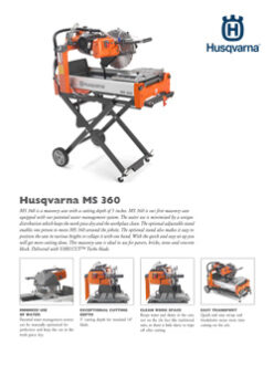 MS 360 MASONRY SAW