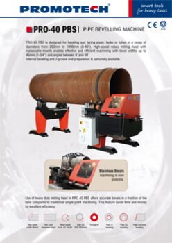 PIPE BEVELLING MACHINE PRO-40 PBS