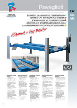 ALIGNMENT LIFTS WITH BUILT IN PLAY DETECTOR